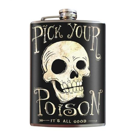Pick-Your-Poison-8oz-Stainless-Steel-Hip-Flasks