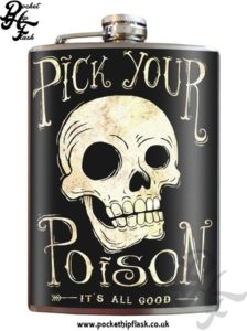 Pick your Poison 8oz Stainless Steel Hip Flask