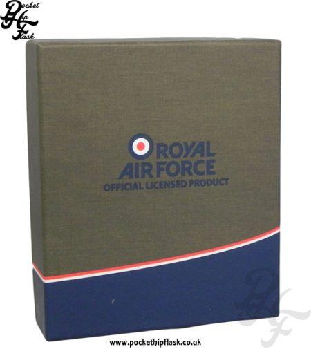 RAF Hip Flask Gift Box