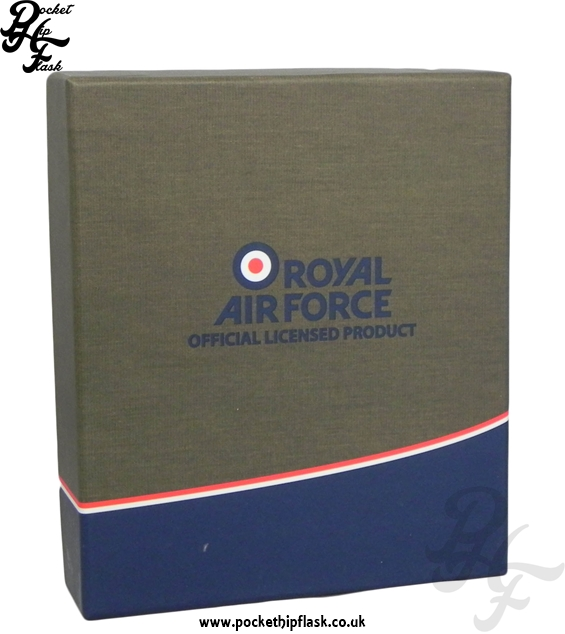RAF Hip Flask Gift Box