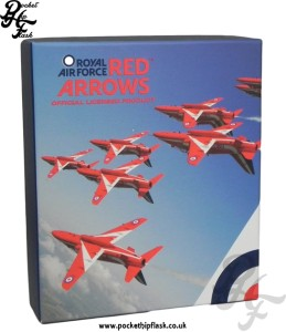 RAF Hip Flasks - RAF Red Arrows Hip Flask Gift Box