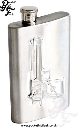 Shot Gun Hip Flask 4oz