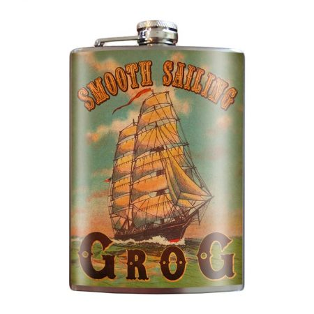 Smooth-Sailing-8oz-Stainless-Steel-Hip-Flask