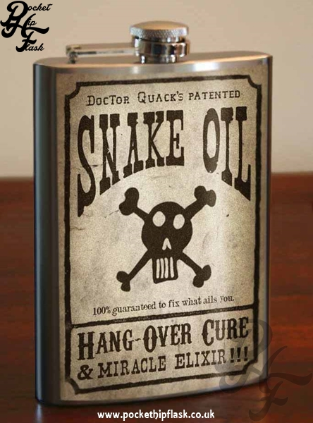 Snake Oil 8oz Stainless Steel Hip Flask