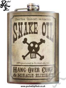 Snake Oil 8oz Stainless Steel Hip Flask