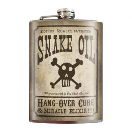 Snake-oil;-8oz-Stainless-Steel-Hip-Flasks