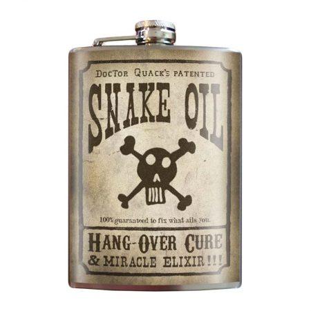 Snake-oil;-8oz-Stainless-Steel-Hip-Flasks