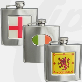 Stainless Steel Country Hip Flasks