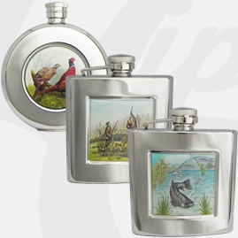 Stainless Steel Country Living Hip Flasks