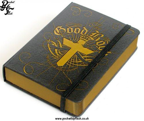 The Good Book Hip Flask