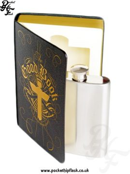 The Good Book Hip Flask Set Standing