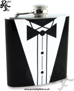 Tuxedo Stainless Steel 6oz Hip Flask