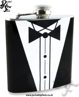 Tuxedo Stainless Steel 6oz Hip Flask