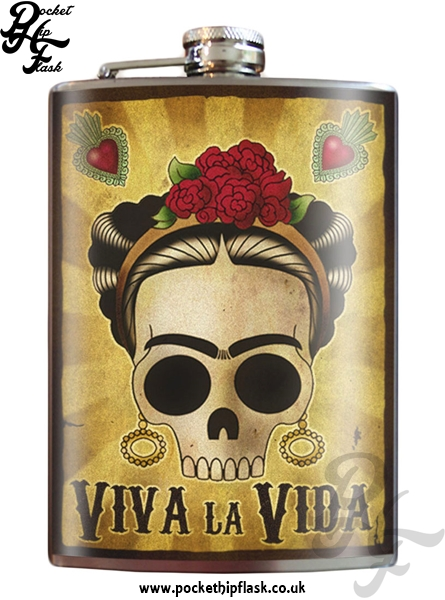 Viva la Vida 8oz Stainless Steel Hip Flask