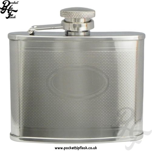 4oz Barley Hip Flask with Oval Engraving Plate