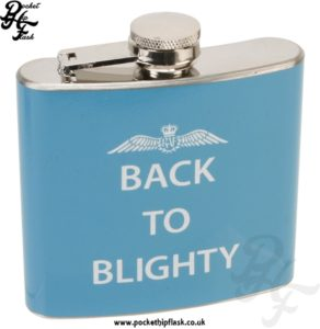 5oz R.A.F Hip Flask Slogan Series Back to Blighty