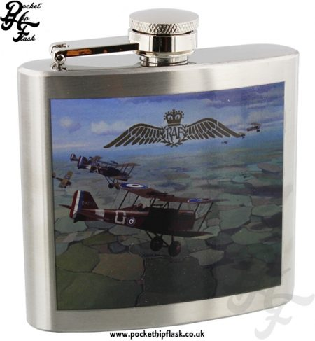 5oz Stainless Steel RAF WW1 Commemoration Collection Hip Flask