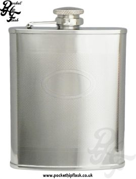 6oz Barley Hip Flask with Oval Engraving Plate