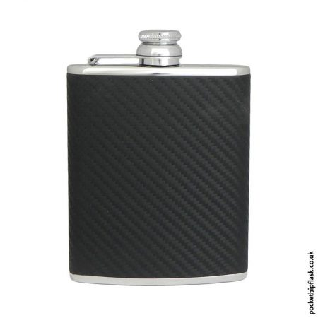 6oz-Black-Carbon--Luxury-Leather-Stainless-Steel-Hip-Flask