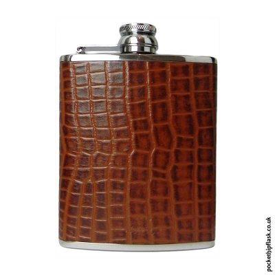 6oz-Brown-Nile-Crocodile-Luxury-Leather-Hip-Flask