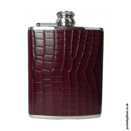 6oz-Burgundy-Luxury-Leather-Stainless-Steel-Hip-Flask