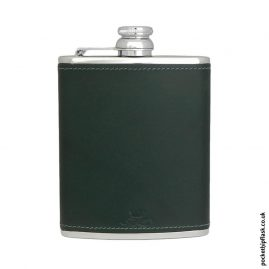 6oz-Green-Luxury-Leather-Stainless-Steel-Hip-Flask