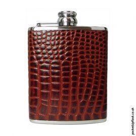 6oz-Tan-Nile-Crocodile-Luxury-Leather-Hip-Flask