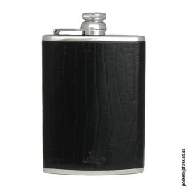 8oz-Black-Nile-Crocodile-Luxury-Leather-Hip-Flask