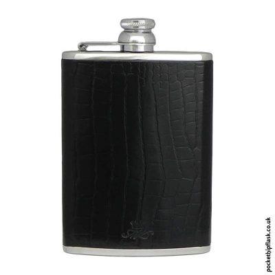 8oz-Black-Nile-Crocodile-Luxury-Leather-Hip-Flask