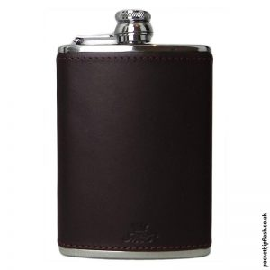 How do you fill a hip flask without spilling it?