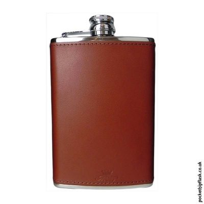 8oz-Chestnut-Luxury-Leather-Stainless-Steel-Hip-Flask