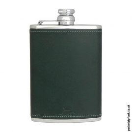 8oz-Green-Luxury-Leather-Stainless-Steel-Hip-Flask
