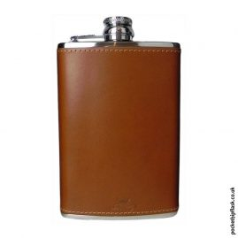 8oz-Tan-Luxury-Leather-Stainless-Steel-Hip-Flask