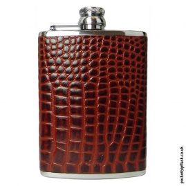 8oz-Tan-Nile-Crocodile-Luxury-Leather-Hip-Flask