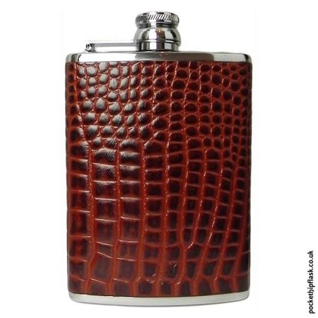 8oz-Tan-Nile-Crocodile-Luxury-Leather-Hip-Flask