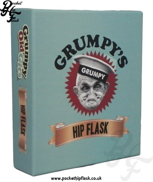 Grumpys Hip Flask Gift Box