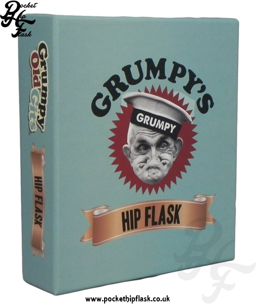 Grumpys Hip Flask Gift Box