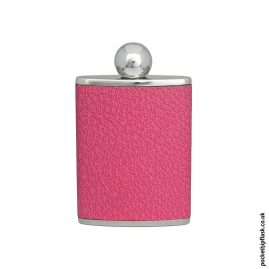 Ladies-Pink-Luxury-Leather-Patterned-3oz-Oval-Hip-Flask