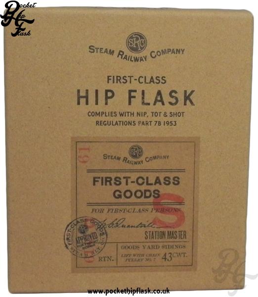 Steam Railway Company Hip Flask Gift Box