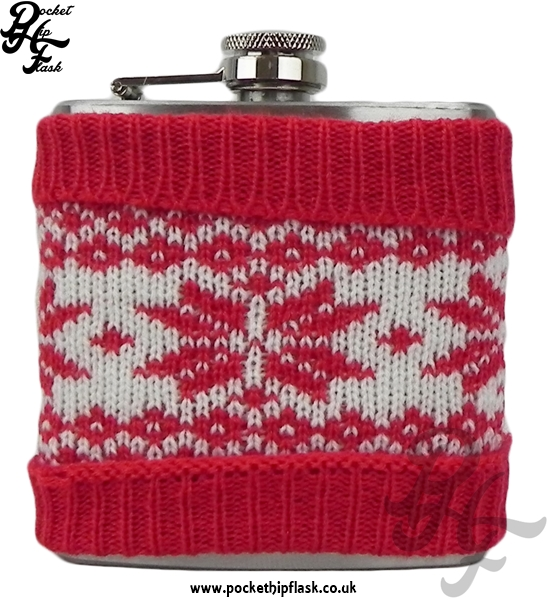 6oz Stainless Steel Christmas Jumper Hip Flask