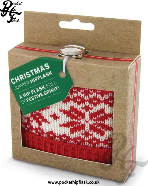 Christmas Jumper Hip Flask 6oz