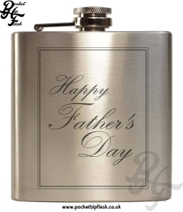 Fathers Day Stainless Steel 6oz Hip Flask