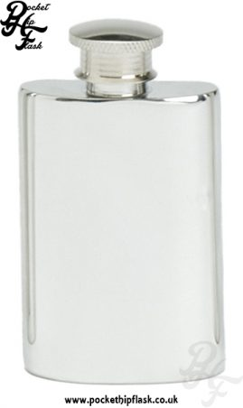 2oz Plain Pewter Hip Flask