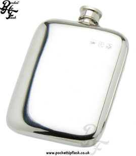 4oz Plain Pewter Cushion Hip Flask