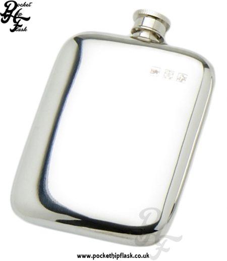 4oz Plain Pewter Cushion Hip Flask