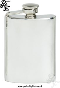 4oz Plain Pewter Hip Flask with Captive Top