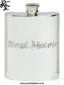 6oz Pewter Hip Flask Best Man
