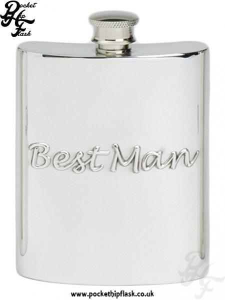 6oz Pewter Hip Flask Best Man