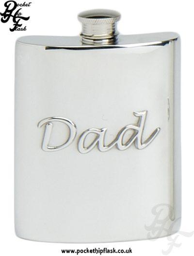 6oz Pewter Hip Flask Dad