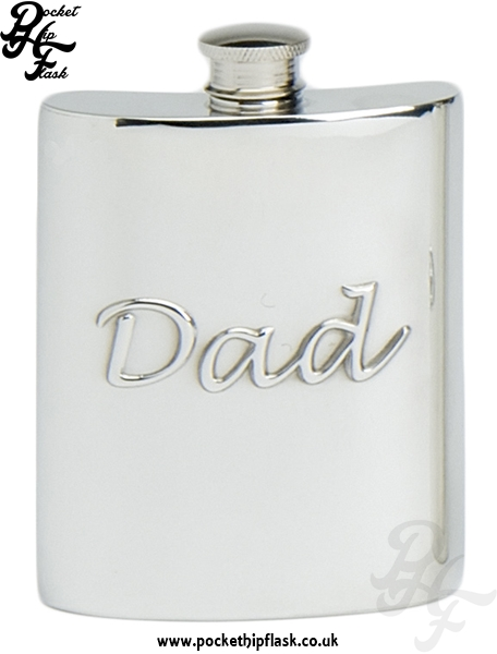 6oz Pewter Hip Flask Dad